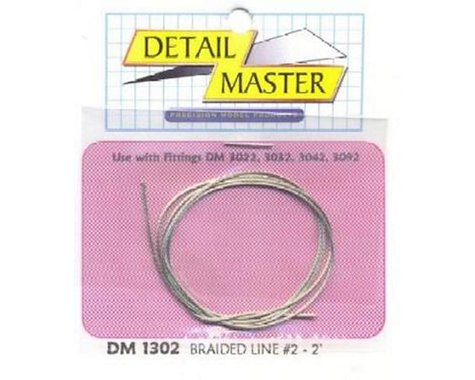 "Detail Master 1/24-1/25 2ft. Braided Line #2 (.025"")"