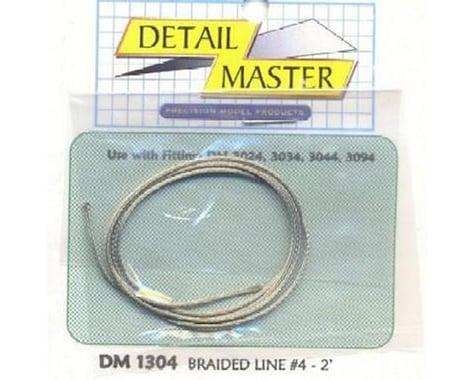 "Detail Master 1/24-1/25 2ft. Braided Line #4 (.045"")"
