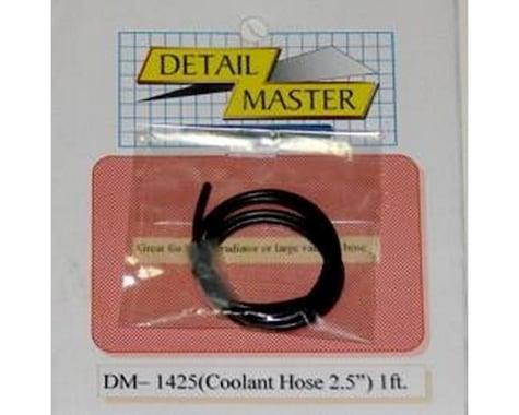 "Detail Master 1/24-1/25 1ft. Coolant Hose Black (2"" Dia.)"