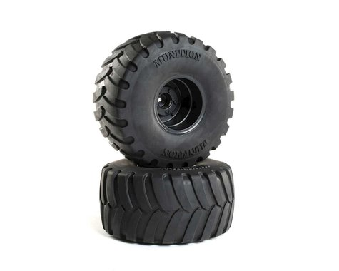 "DuraTrax Munition 1/10 2.2"" Monster Truck Tires (2) w/12mm Hex"