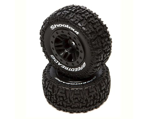 DuraTrax SpeedTreads Shootout Short Course Rear Tires w/12mm Hex (Black) (2)