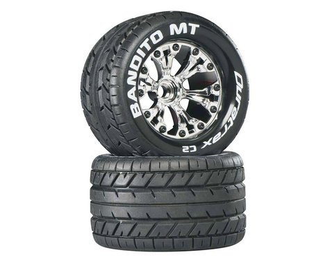 """Bandito MT 2.8"""" 2WD Mounted Front C2 Tires, Chrome (2)"""