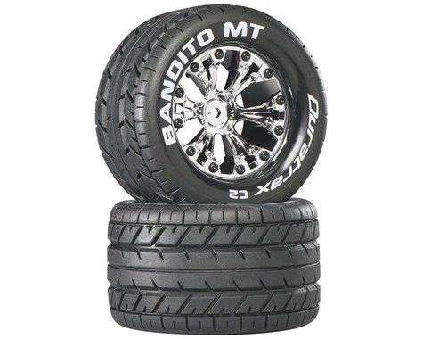 DuraTrax Bandito MT 1/10 2.8 Mounted Rear Monster Truck Tires DTXC3503