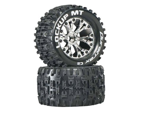 """Lockup MT 2.8"""" 2WD Mounted Front Tires, Chrome (2)"""