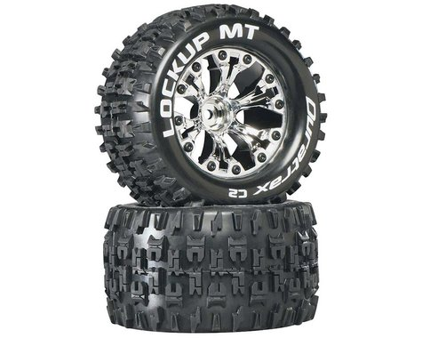"DuraTrax Lockup MT 2.8"" 2WD Mounted 1/2"" Offset Tires, Chrome (2)"