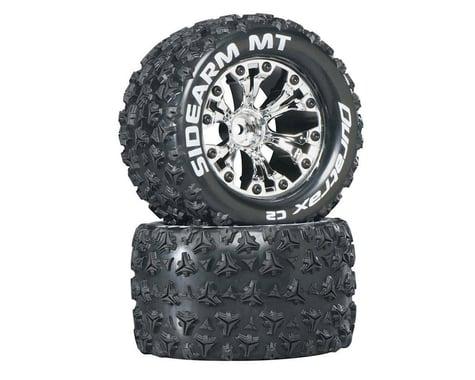 "DuraTrax Sidearm MT 2.8"" 2WD Mounted Rear C2 Tires, Chrome (2)"