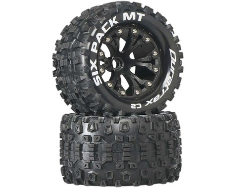DuraTrax Sixpack MT 2.8 Mounted Truck Tires 2WD Front Black DTXC3518