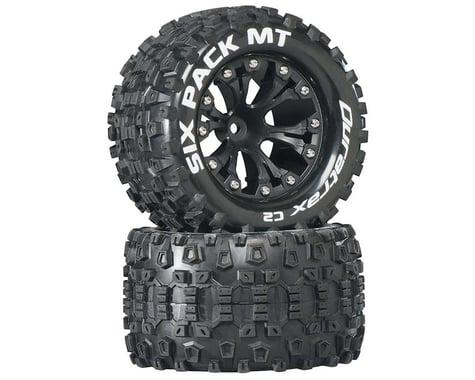 "DuraTrax Sixpack MT 2.8"" Mounted Nitro Rear Truck Tires (Black) (2) (1/2 Offset)"