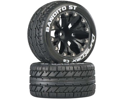 "DuraTrax Bandito ST 2.8"" 2WD Mounted Front C2 Tires (Black) (2)"