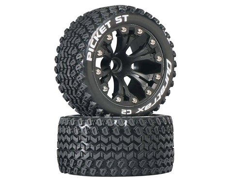 DuraTrax Picket ST 2.8 Mounted Truck Tires 2WD Front Black DTXC3546