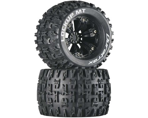 "DuraTrax Lockup MT 3.8"" Mounted 1/2"" Offset Tires, Black (2)"