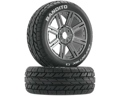 DuraTrax Bandito 1/8 Buggy PreMounted Tire w/ Spoke Wheels (Chrome) (2) (C3)