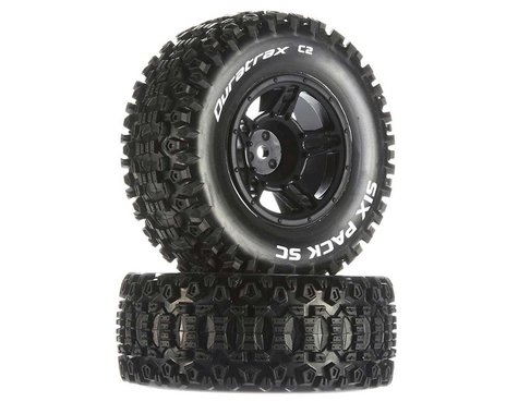 DuraTrax Six-Pack SC C2 Mounted Tires (2) (Traxxas Slash Front)