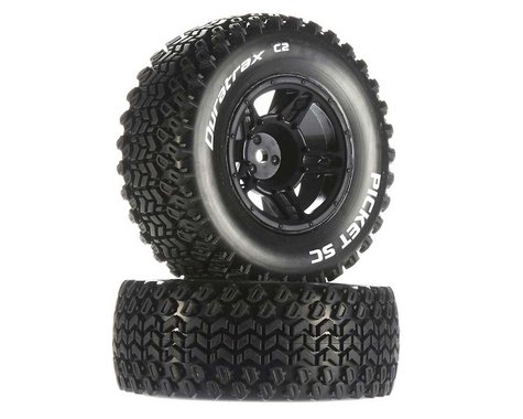 DuraTrax Picket SC C2 Mounted Tires: Traxxas Slash Front (2)