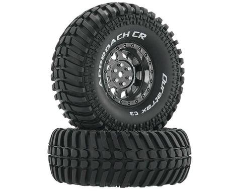 "DuraTrax Approach CR C3 Mounted 1.9"" Crawler Tires, Black Chrome (2)"