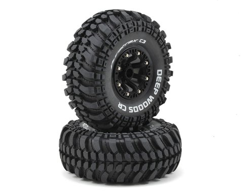 "DuraTrax Deep Woods CR 2.2"" Pre-Mounted Crawler Tires (2) (Black) (C3 - Super Soft)"