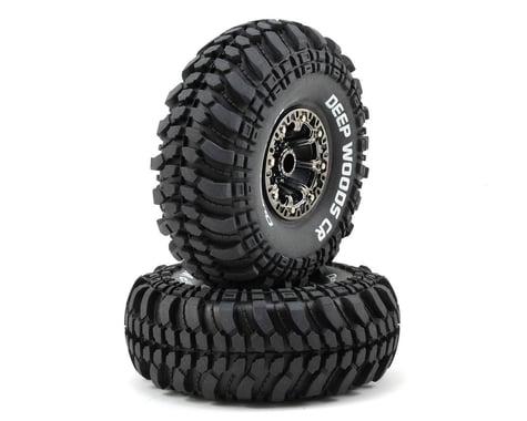 "DuraTrax Deep Woods CR 2.2"" Pre-Mounted Crawler Tires (2) (Black Chrome) (C3 - Super Soft)"