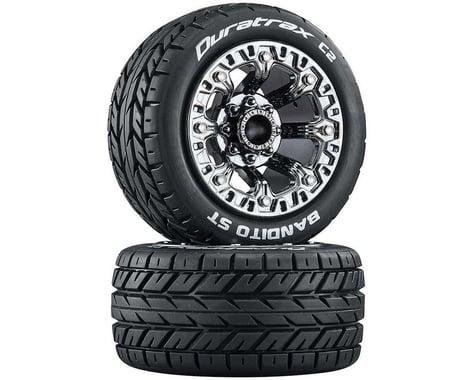 "DuraTrax Bandito Pre-Mounted 2.2"" Stadium Truck Tires (Black Chrome) (2)"