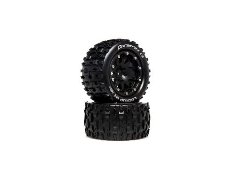 """DuraTrax Lockup MT Belted 2.8"""" 2WD Rear Truck Tires (Black) (2) (0 Offset)"""