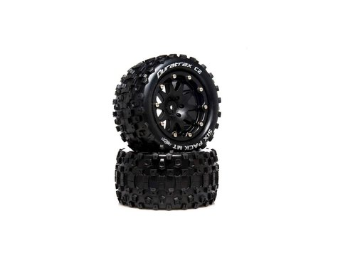 """DuraTrax Six Pack MT Belted 2.8"""" 2WD Rear Truck Tires (Black) (2) (0 Offset)"""