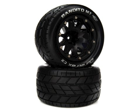 """DuraTrax Bandito MT Belted 2.8"""" 2WD On-Road Truck Tires w/14mm Hex (Black) (2)"""