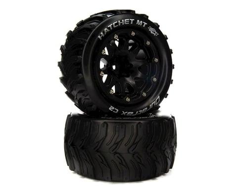 "DuraTrax Hatchet MT Belted 2.8"" 2WD Monster Truck Tires w/14mm Hex (Black) (2)"