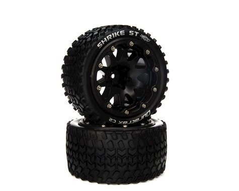 """DuraTrax Binder ST Belted 2.8"""" 2WD On-Road Truck Tires w/14mm Hex (Black) (2)"""
