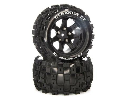 "DuraTrax Stakker ST 2.8"" 2WD Front/Rear Truck Tires w/14mm Hex (Black) (2)"