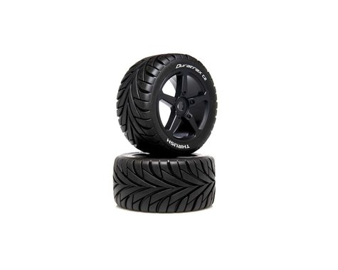 DuraTrax THRUSH 1/8 On-Road Pre-Mounted Truggy Tire (Black) (2) (C2)