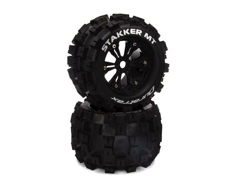 DuraTrax Stakker MT 1/8 Monster Truck Tires (Black) (2)