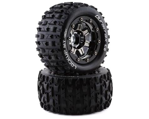 "DuraTrax Lockup MT Belt 2.8"" Mounted .5 Offset 17mm Black Chrome Front/Rear Tires (2) DTXC5603"