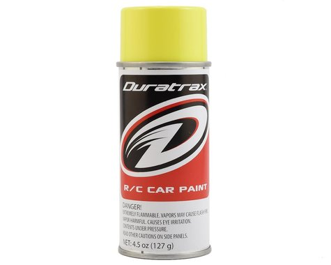DuraTrax Polycarb Fluorescent Yellow Lexan Spray Paint (4.5oz)