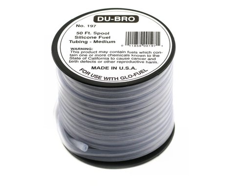 DuBro Medium Silicone Fuel Tubing (Blue) (50')