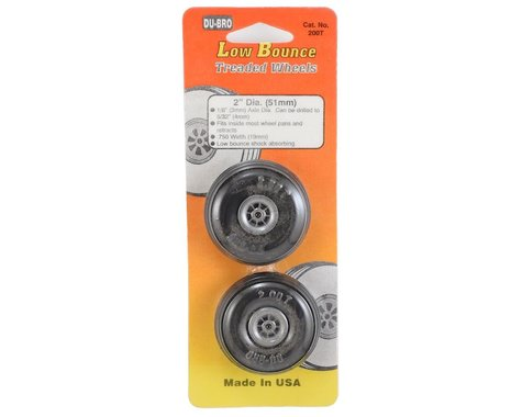 "DuBro 2"" Treaded Wheels (2)"