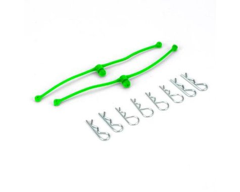 "DuBro Body ""Klip"" Clip Retainers (Lime Green)"