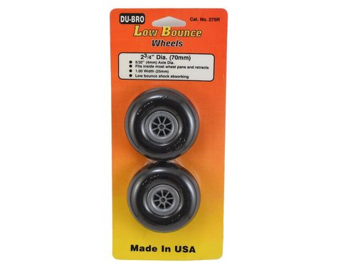 "DuBro 2-3/4"" Smooth Low Bounce Wheels (2)"