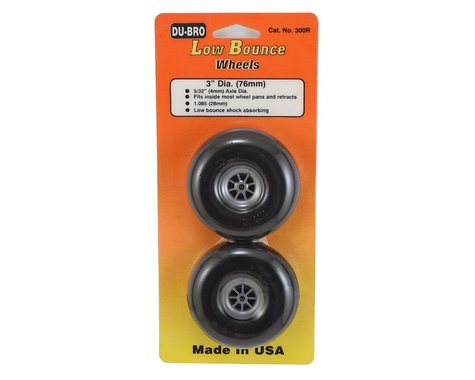 """DuBro 3"""" Smooth Low Bounce Wheels (2)"""