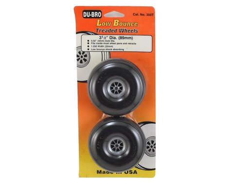 "DuBro 3-1/2"" Treaded Low Bounce Wheels (2)"