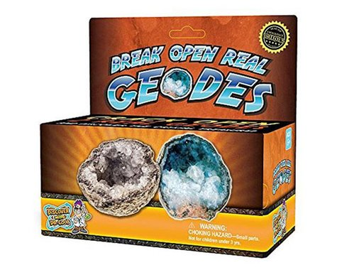Discover With Dr. Cool BREAK OPEN REAL GEODES 2PC (12)