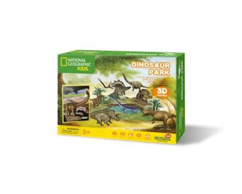Daron Worldwide Trading CFDS0973H Dinosaur Park 3D Puzzle 43 Pieces National Geographic