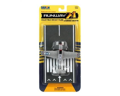 Daron Worldwide Trading Runway24 P51D Silver Diecast Vehicle