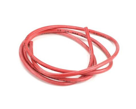 13AWG Silicone Wire 3', Red