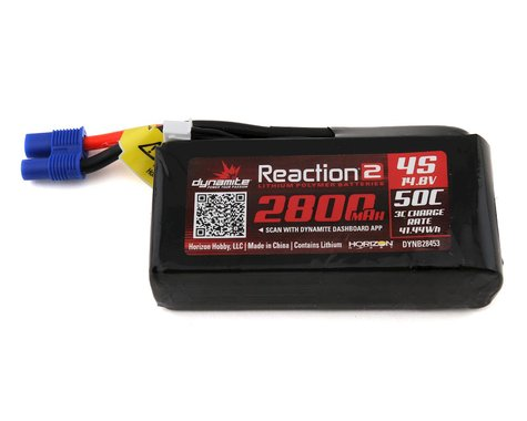 Dynamite Reaction 2.0 4S 50C LiPo Battery w/EC5 (14.8V/2800mAh)