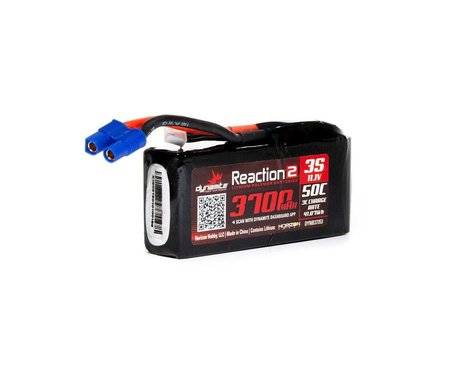 Dynamite Reaction 2.0 3S 50C Hardcase LiPo Battery w/EC3 (11.1V/3700mAh)