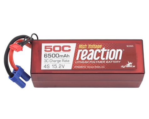 Dynamite Reaction HV HD 4S 50C Hard Case LiPo Battery w/EC5 (15.2V/6500mAh)
