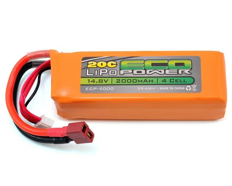 "EcoPower ""Electron"" 4S LiPo 20C Battery Pack (14.8V/2000mAh) (Starter Box)"