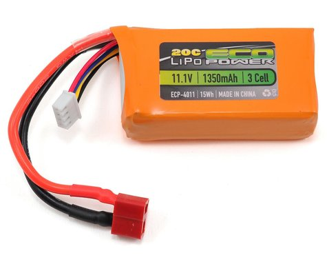 "EcoPower ""Electron"" 3S LiPo 20C Battery (11.1V/1350mAh)"