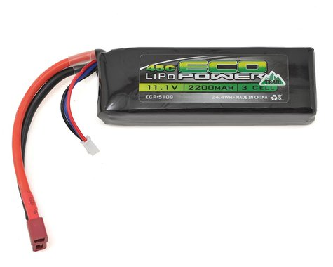 """EcoPower """"Trail"""" 3S LiPo 45C Battery Pack w/T-Style Connector (11.1V/2200mAh)"""