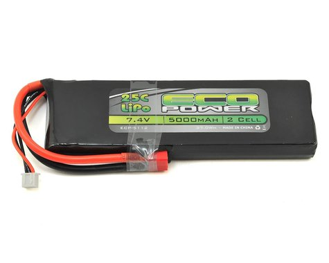 "EcoPower ""Electron"" 2S LiPo 25C Battery (7.4V/5000mAh)"