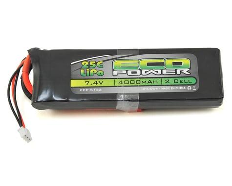 "EcoPower ""Electron"" 2S LiPo 25C Battery (7.4V/4000mAh)"